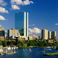 The waterfront area of Boston