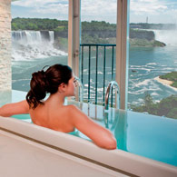 See the Falls, enjoy the spa!