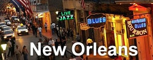Cheap hotels in New Orleans.